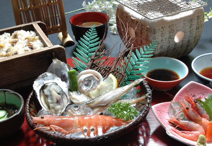 海鮮網焼き膳